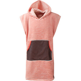 DIDRIKSONS Pier Poncho Niños, tile orange simple stripe